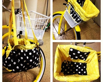 Reversible bicycle basket liner and tote