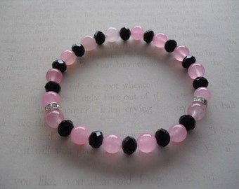 Beautiful rose quartz bracelet
