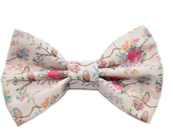 Vintage Owl Themed Bow Tie