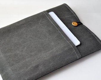 """13"""" MacBook Retina Case,13 Inch MacBook Air Cover, MacBook Pro Case,Laptop sleeve,,Canvas Bag, PADDED, With Pocket For Ipad"""
