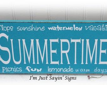 Summertime Subway Art Wood Sign