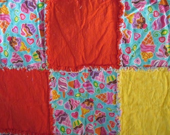REDUCED Teen's or adult rag quilt