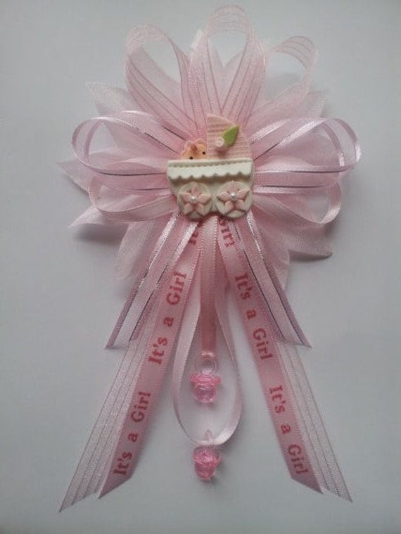 pink baby baby shower mommy corsage