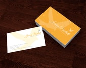 Premade Customized Business Card - Birds / Flight Orange Photography