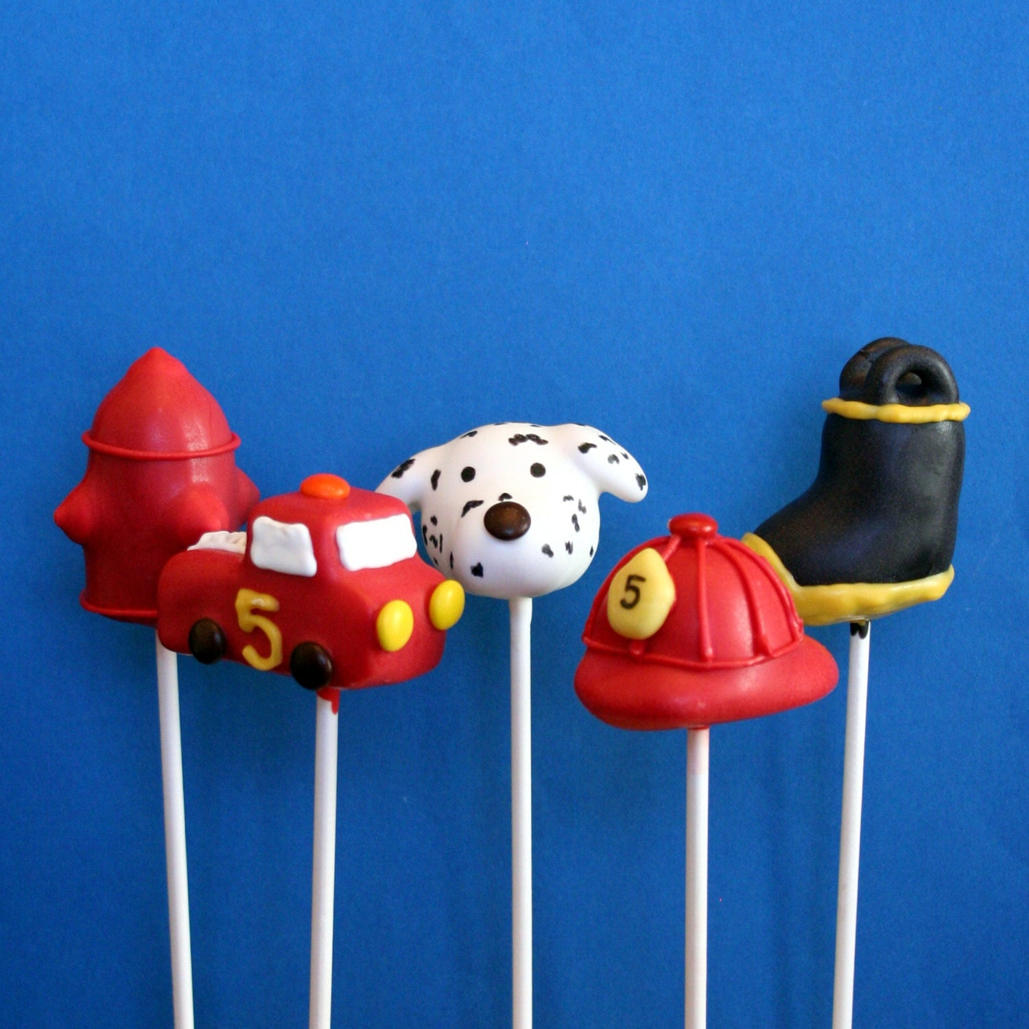 20 Firefighter Cake Pop Assortment With Fire By