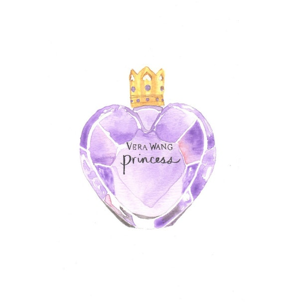 Items similar to vera wang princess fragrance watercolor perfume