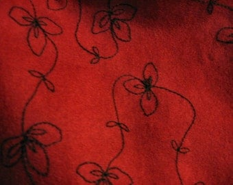 Red wool messenger bag