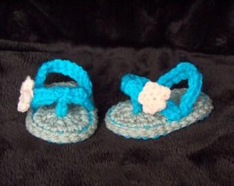 Crochet Baby Sandals. Crochet Sandals. Flower. Summer. Baby Gift