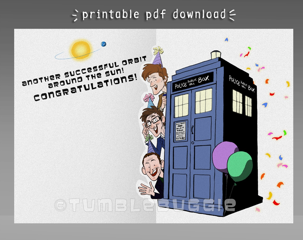the who birthday card