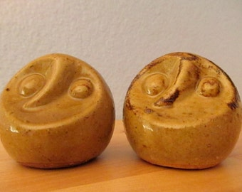 Abstract Ceramic Owl Salt and Pepper Shakers