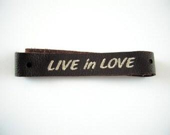 LIVE in LOVE Leather TIE Bracelet