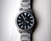 Explorer Style Custom watch (Seiko 7s26) Sapphire crystal, sword hands