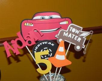 Cars Birthday Party Centerpiece - Lightning McQueen Centerpiece