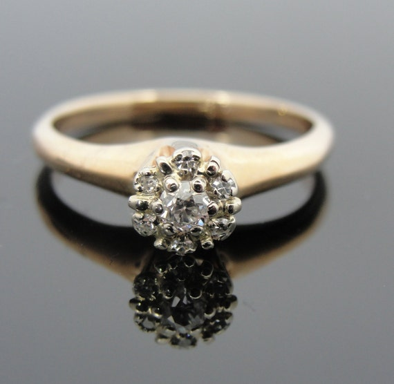 Pave Top Tiffany Style Antique Diamond Engagement by MSJewelers