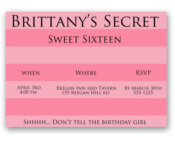 Victoria's Secret Birthday Invitation by PaintingWithPixels