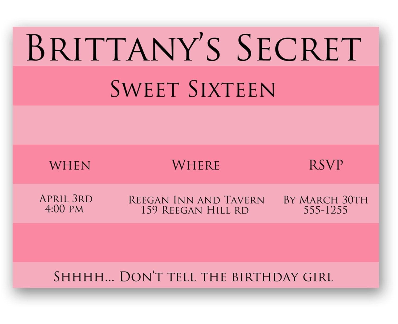 Victoria's Secret Birthday Invitation Printable