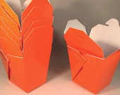 100 Chinese Take Out Favor Boxes Orange Chinese Take Out Favor Boxes with Handles Halloween Take Out Boxes Orange Chinese Take Out Boxes