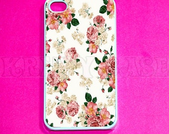 iPhone 6/6s Plus Case,iPhone 6/6s Case, iphone 4 Case, iPhone 4s case - Vintage Flower iPhone SE Cases, Iphone 4s Cover,Case For iPhone SE