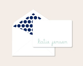 Personalized Stationery - tiny note set