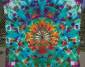 "Tie-Dye Tapestry/Blanket/Wall-Hanging, Queen-Size, 90"" x 90"", Family-Made with Love"