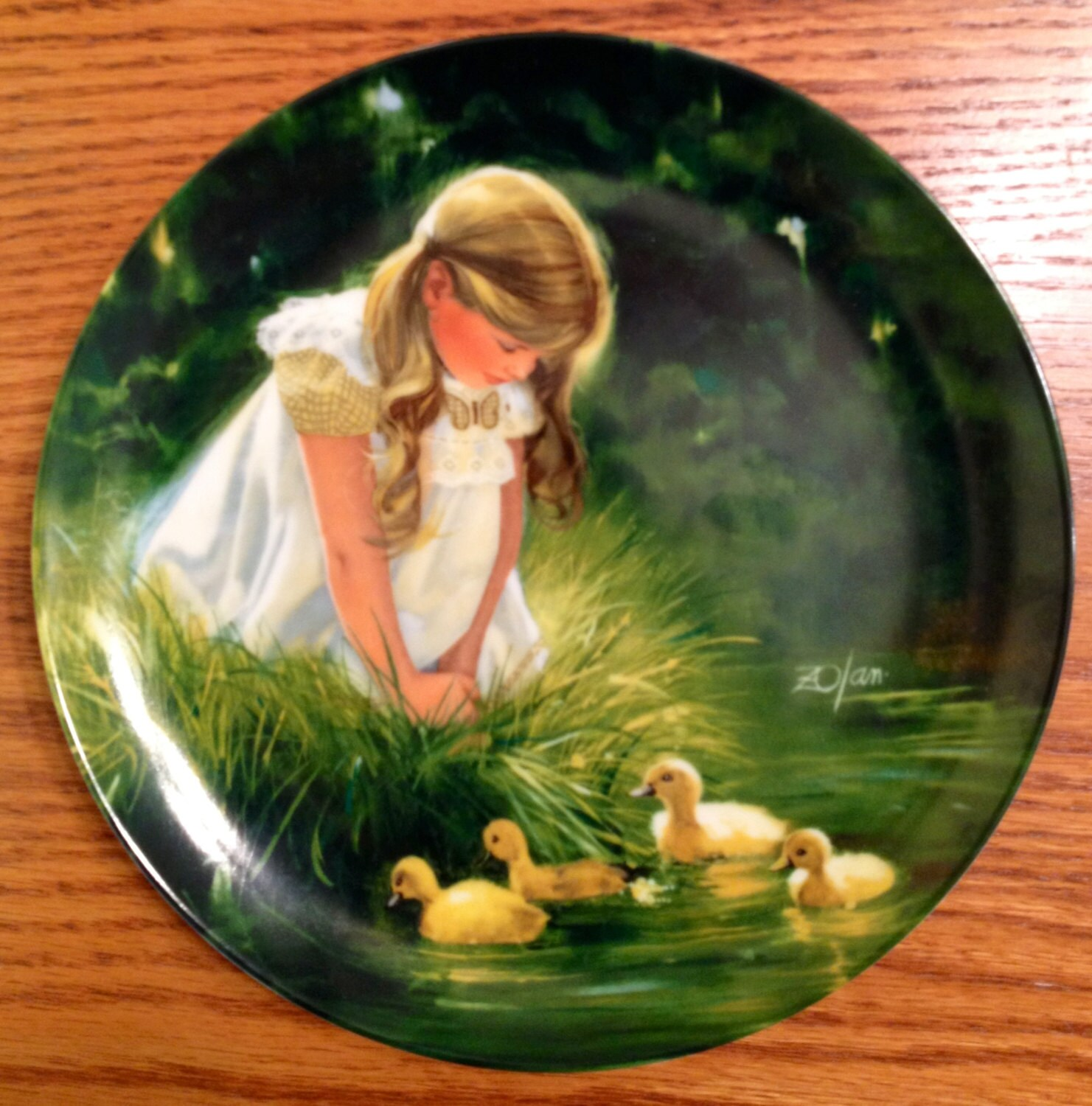 1984 Quotes With Page Numbers: Golden Moment Porcelain Collector Plate By Donald Zolan 1984