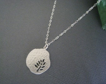 Tree Necklace in STERLING SILVER CHAIN--Leaf Necklace,Perfect Gift, gift for mom, Birthday Present for her for friends.