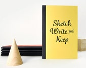 Sketch, Write and Keep Notebook - Yellow With Spine