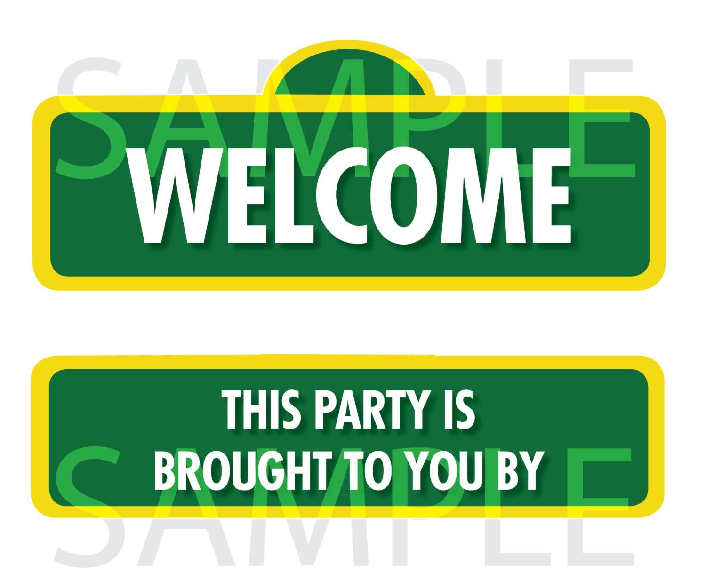 sesame street sign templates wwwimgkidcom the image