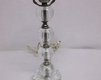 Art deco period stacked glass sphere  lamp