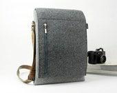 Felt Messenger Bag Cross Body Bag Everyday Bag Casual Bag Shoulder Bag iPad Bag School Bag E1272