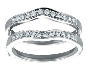 Classic Wedding Band Ring Guard - S terling Silver Ring Enhancer with