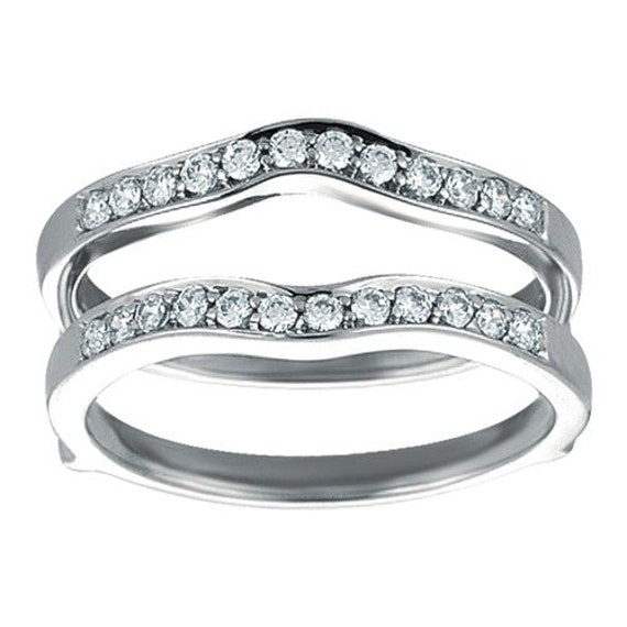 Classic Wedding Band Ring Guard Sterling By TwoBirchJewelers