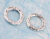 Artisan Handcrafted Solid Sterling Silver Link - Set of Two - Calieri