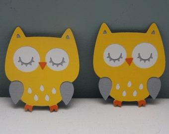 Cricut Owl Die Cut Set of 8