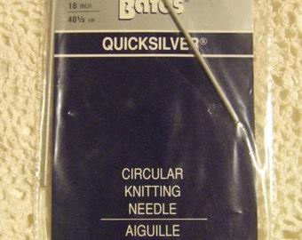 "Susan Bates Circular Quicksilver Knitting Needle  24""  Size 1   2 1/2 mm"