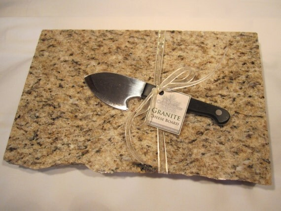 Elegant Large Granite Cheese Board With Premium Cheese Knife