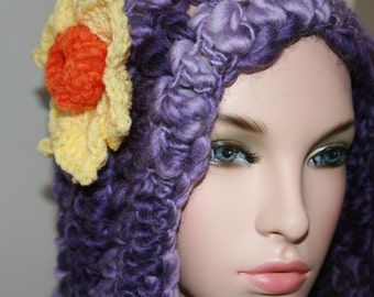 No: 16 Freeform crochet hat, wearable art, OOAK
