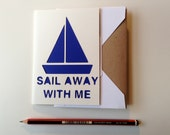 Valentines Paper-Cut Card - Sail Away With Me