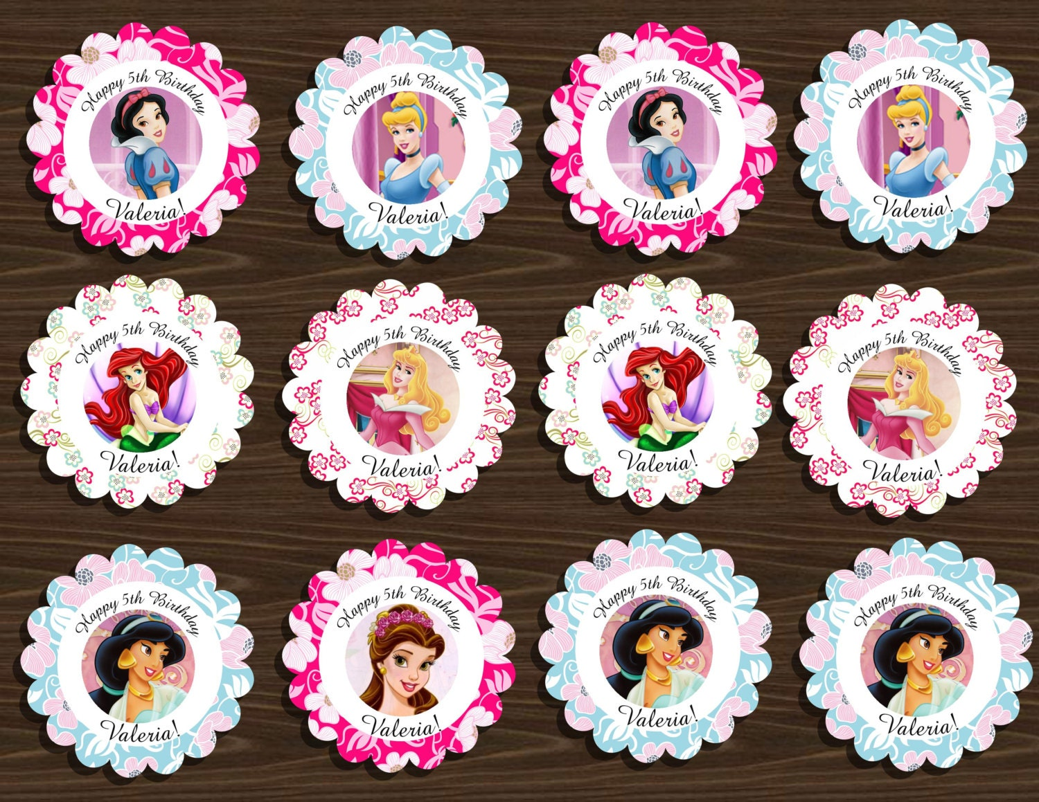 It is a picture of Trust Disney Princess Cupcake Toppers Free Printable