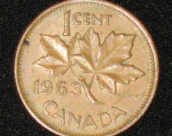 CANADA One Cent 1963     -7-