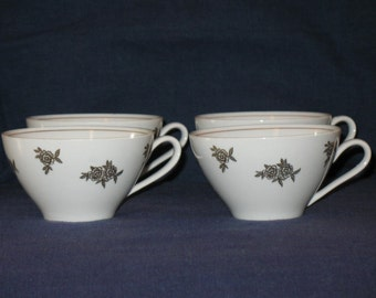 Vintage 60's BA ARIA Tea Cups - Set of 4
