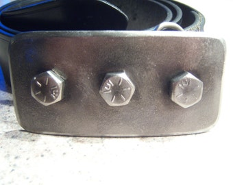 "3 Bolt Horizontal Steel Belt Buckle - 2""x4"""