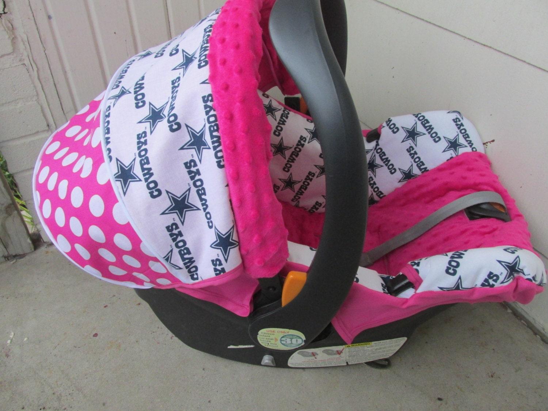 Items Similar To Hot Pink Dallas Cowboys Baby Car Seat