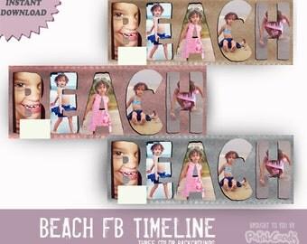 INSTANT DOWNLOAD Beach facebook Timeline