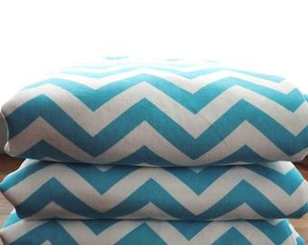 SALE!! Waterproof Picnic Blanket-Teal Chevron