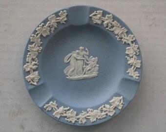 1980s Medium Wedgwood Blue Jasperware Ashtray