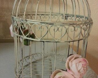 Distressed Birdcage - wedding centerpiece or card holder