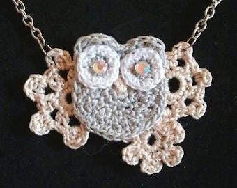 Metallic Owl Necklace.