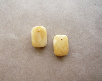 Tiny Faceted Yellow Jade Drops