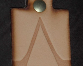 Assassins Creed leather geeky key fob